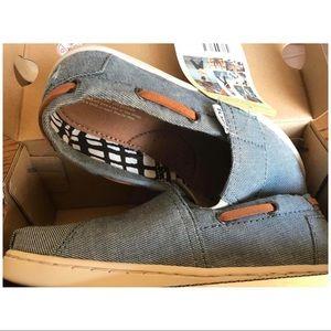 Tiny TOMs Bimini Chambray shoes